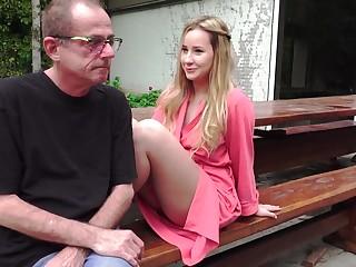 Grandpa Fucks Teen On Rainy Day licks her tight pussy