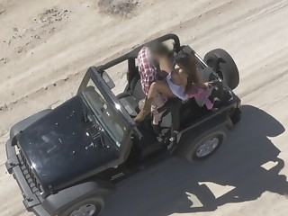 Mercedes Filmed By Drone While Ramming In Desert