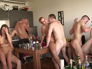 Hardcore Group Sex on HomeParty
