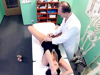 Doctor Frees Loveballs Deep in Pussy