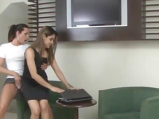 Patricia and Amanda tranny fucking girl on video