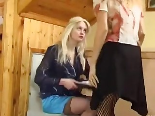 Maria and Ninon playful anal lesbian video