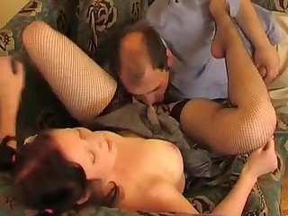 Melanie and Ferdinand girl and daddy action