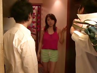 Hot Asian Milf, Akane Nagase Is Into An Mmf Rear Fucking