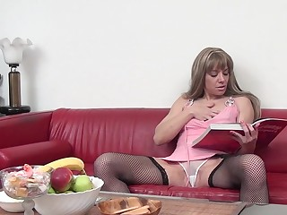 Hot housewife playing with her wet pussy