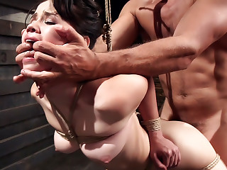 Slave Training Tied Tight and Pounded Hard in the Ass