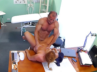 Gorgeous redhead prescribed cock by her doctor