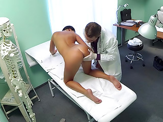 Hot black haired mom cheats on hubby with doctor