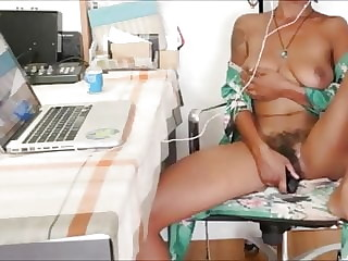 Hot Busty MILF Watching Porn And Getting Horny