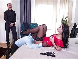 Black Stockings Gallery Daphne Klyd interracial threesome