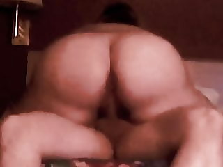 Short Haired Plump Ass PAWG rides big cock