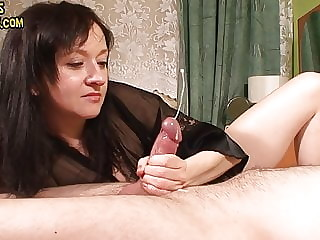 hard edging cock with a lot of precum and huge cumshot