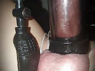Anal play and bondage ob bench