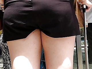 Shortinho preto da loira voyeur shorts blonde