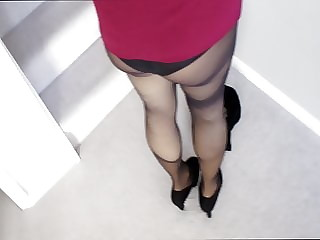Naughty Wife in pantyhose