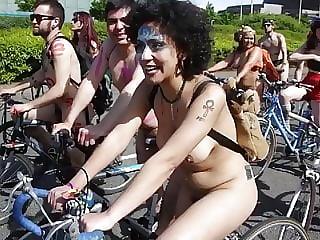 World Naked Bike Ride Cardiff 2015 5 Hairy 2 Shaved Girls