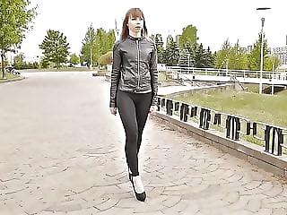 Girl in leggings