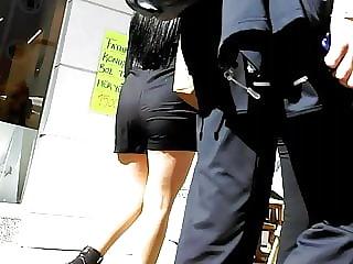 Shorts and Shiny Pantyhose