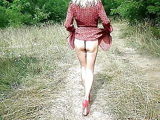 My ass in bikini bullying high heels dress