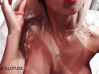 Glamour Babe Masturbate Sex Toys By The Mirror